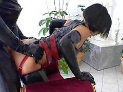 Latex fetish fuck scene is a group