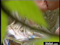 Silvia Saint gets smashed in the nature