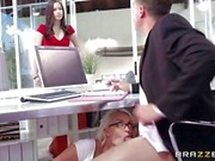 Boss gets caught fucking sexy secretary Gigi Allens