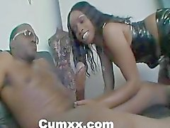 Hot Ebony Fucked With Big Black Cock