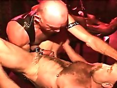 Fetish leather bear anally fisted