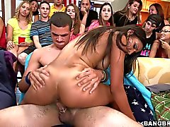 Pornstar fucking at a dorm party
