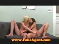 Fake Agent Feisty blonde amateur fucks in casting