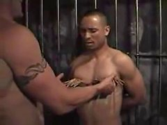 White top master using his black bottom slave - Part II