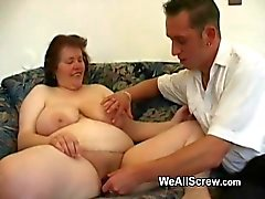 Old guy dildos old womans ass and fucks her