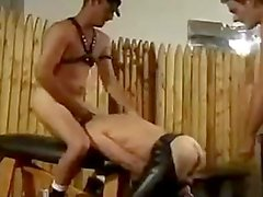Pissing and fucking leather fun