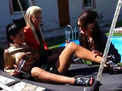 Pissing In Action - Nessa Devil Lesbian Pissing