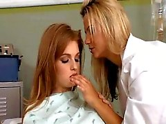 Redhead has lesbian threesome in doctor's office