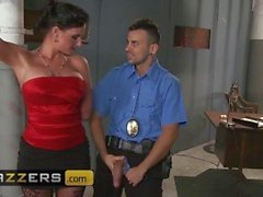 Phoenix Marie gets roughed up and stuffed by cop in front of her - Brazzers