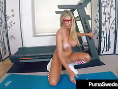 Nordic Princess Puma Swede Works Her Perfect Pussy Out!
