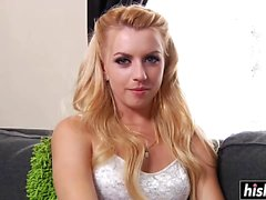 Lexi Belle gets two hard boners