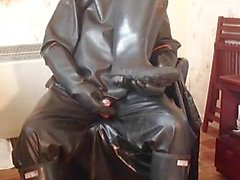 Black rubber wank.