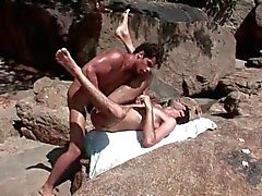 Kaike and junior having wild sex on the beach