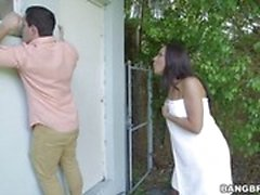 Kinky stepmom Rachel Starr catches Dillion Carters boyfriend perving over her