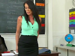 Brunette milf hardcore and facial