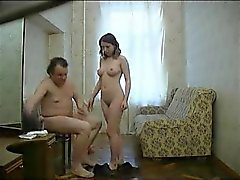 Russian whore with ugly fat old man. Hidden cam.