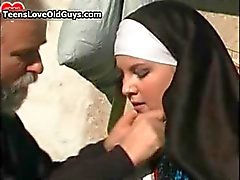 busty nun gets her pussy fucked