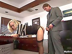 Nicole Aniston is an office secretary who has blo