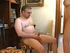 Hot mature tranny in action
