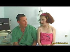 young busty redhead teen fucked by her doctor