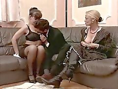 Lucky man fucking two classy mature sluts