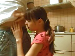My small titted girl banged in kitchen