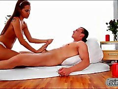 Smoking hot masseuse Satin Bloom anal fucked and jizzed on