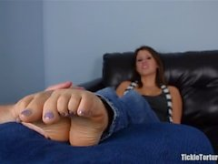 Ticklish Tender Toes Tortured