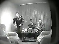 Spy Cam Catches Straight Russian Soldiers Wanking on Porn