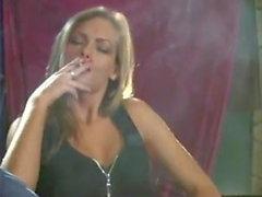Girls smoking white 120s cigs