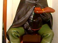 Good oilskin and rubber wank.
