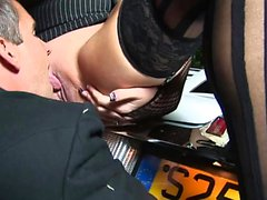 Amazing babes fucked on the car